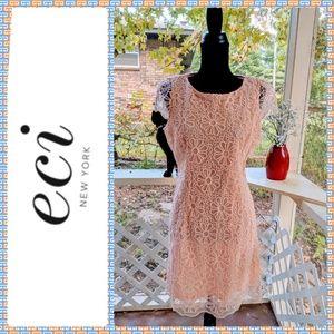 ECI Peach Lace Dress